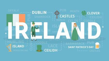 99029280-stock-vector-welcome-to-ireland-banner-concept-with-irish-elements-vector-illustration-